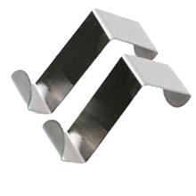 Stainless Steel Hooks Clothing Behind Door Silver Color 4*6*2.5cm Towels Sale Ship From China 2 pcs/set(China (Mainland))