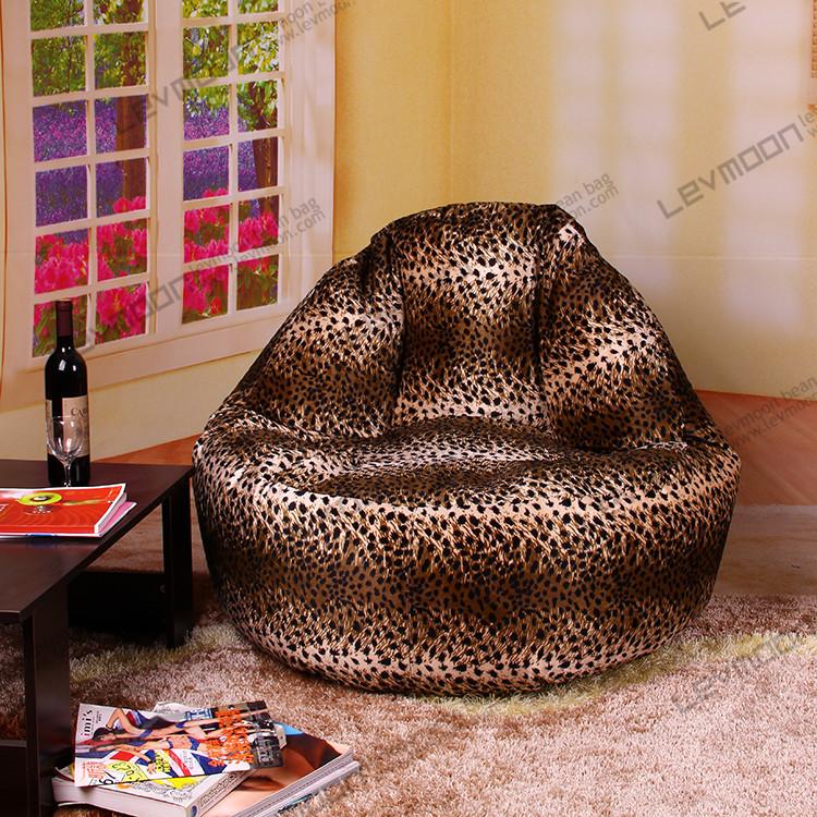 FREE SHIPPING leopard print bean bag sofa 100CM diameter animal print bean bags SUPER SOFT VELVET animal print bean bag covers<br><br>Aliexpress