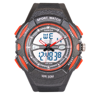 2016 sanda New resistant sports waterproof electronic G LED DIGITAL Fashion army military watches men Casual wrist Watches