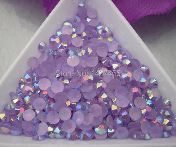 600pcs/lot 6mm lavender AB Rhinestone Quality Rhinestone Non Hot fix(China (Mainland))