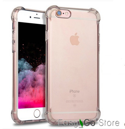 20% off buy 2pcs,For iPhone 6/6S/6 Plus Drop Resistance Transparent Soft TPU Gel Clear Shockproof Back Case For iphone 6/6S Plus(China (Mainland))