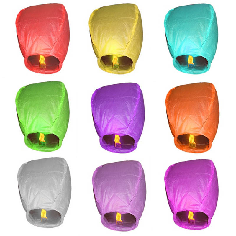 Party Decoration Wishing Lampion Casamento Multi-Color Sky Lantern Fire Candle Flying Lampions Wedding Lamp Casamento Lampion(China (Mainland))
