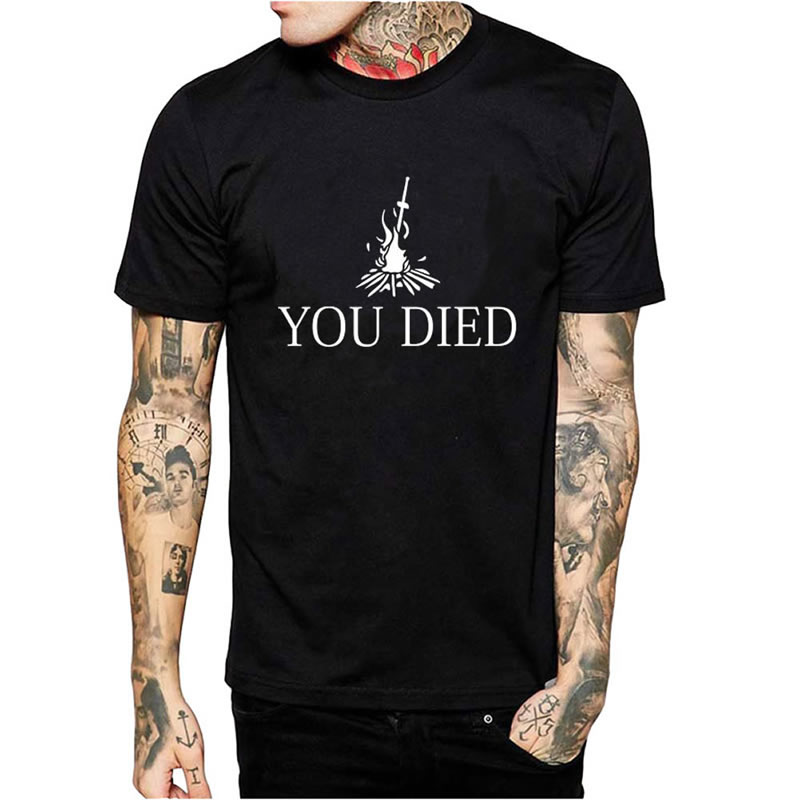 Men T-Shirts 2016 New O-Neck Short Sleeve YOU DIED Printed Man Tees Shirts Men's t-shirt Tops Homme tshirt Plus Size Plus Size(China (Mainland))