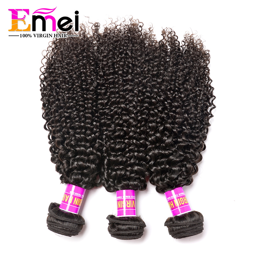 Queen Hair Store 7A Brazilian Deep Curly Virgin Hair 3Pcs Afro Kinky Curly Virgin Hair Brazillian Deep Wave Human Weave Curly