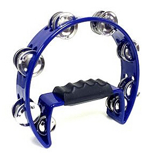 Super sell Tambourine Blue Hand Held with Double Row Metal Jingles Percussion Church Band(China (Mainland))