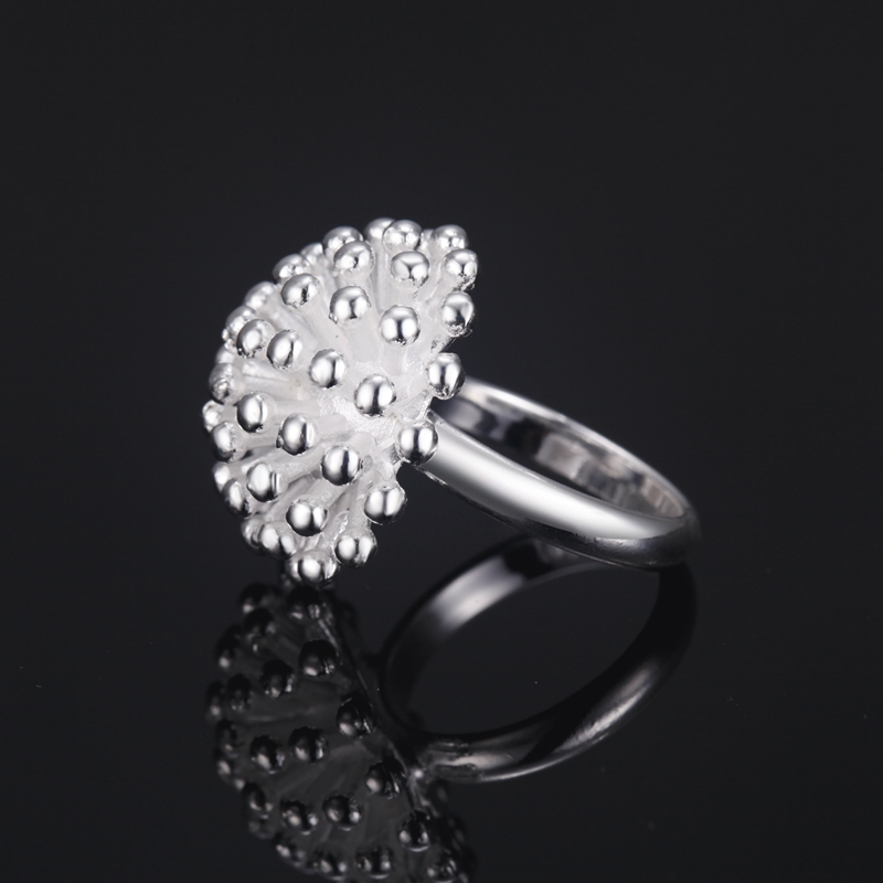 2016 New Fashion Women Platinum Plating Ring Jewelry,Ring Face Dandelion, A Unique And Lovely Style, Suitable For Every Girl(China (Mainland))