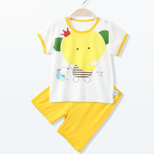 2016 bebe summer short-sleeved shorts set sleepwear baby girls boys clothes cute elephant underwear infantil costume P642(China (Mainland))