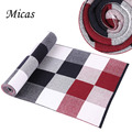 Fashion winter Scarf 100 cashmere Men Luxury Brand Big Size plaid blanket Scarves classic creative grid