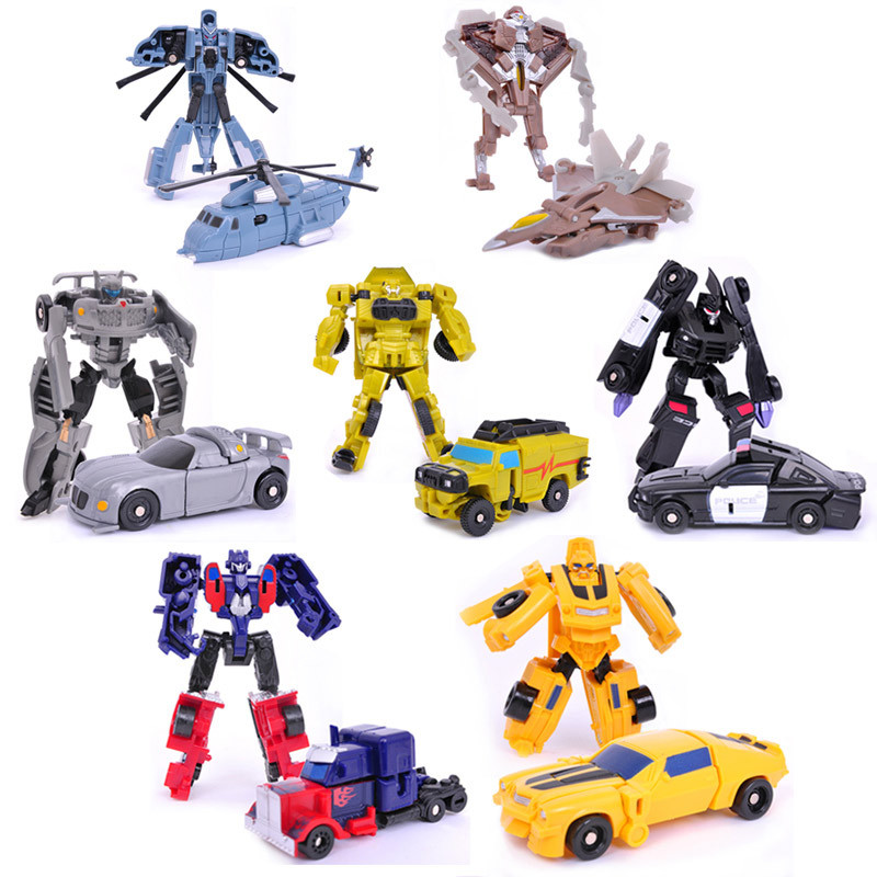 1PC Transformation Kids Classic Robot Cars Toys For Children Action & Toy Figures(China (Mainland))