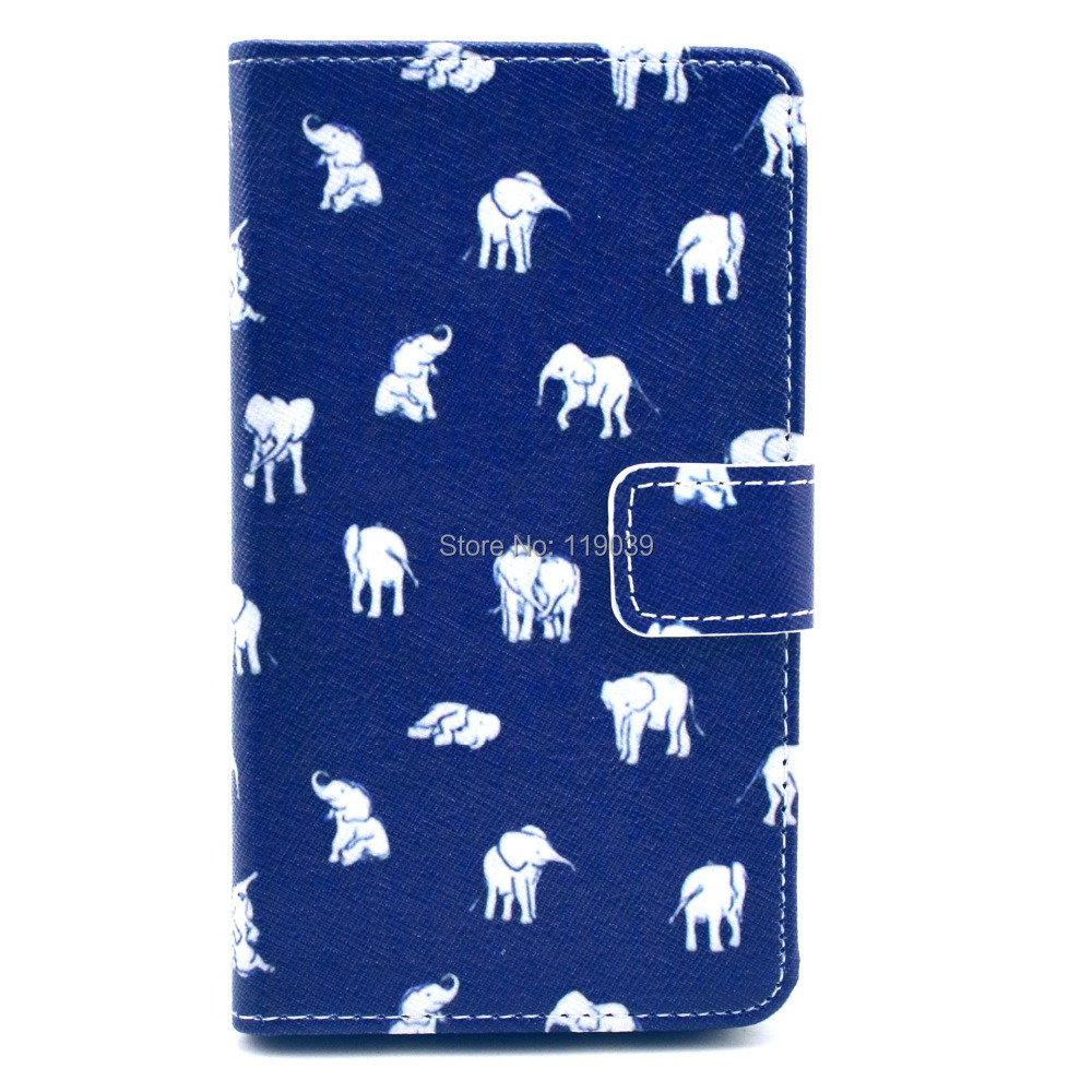 Case For Nokia Lumia 625 625T N625 Dark Navy White Small Elephant Leather Mobile Cell Phone Cases Case Skin Bag Cover Protector(China (Mainland))