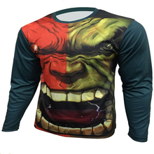 2016 marvel comics hulk batman spiderman, iron man, captain America long sleeve T-shirt gym sports T-shirt