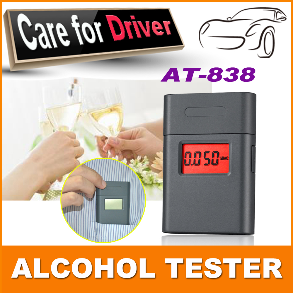 2015 Free Shipping 1PCS Factory Price New design AT-838 Digital Breath Alcohol Tester Gift for Lover and Friend High Quality(China (Mainland))