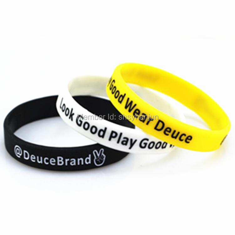 300pcs look good play good wear deuce wristband silicone bracelets free shipping by FEDEX(China (Mainland))