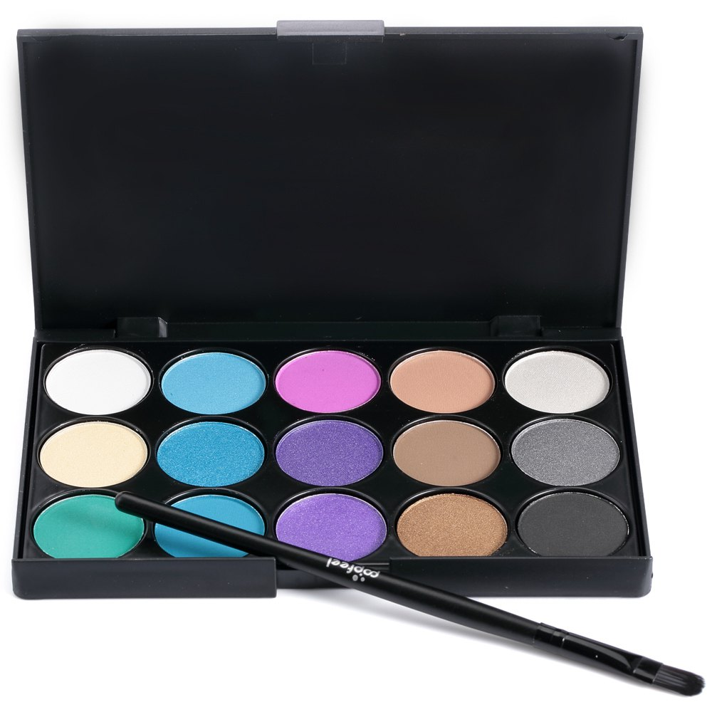 1PC 15 Color Professional Eyeshadow Palette With Brush Makeup Beauty Cosmetic Natural Long Lasting Eyeshadow Cream 1458181(China (Mainland))