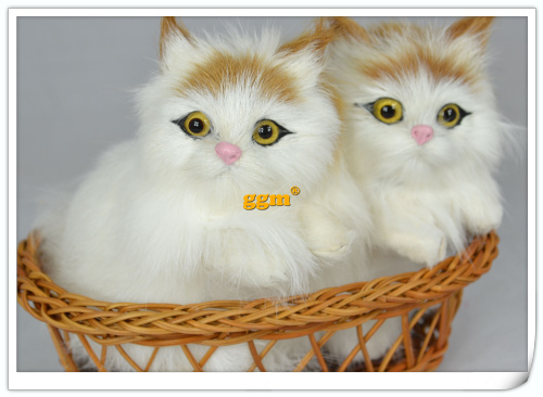 2014 special refining a pair of cute kitten simulation animal Christmas gifts Household decoration(China (Mainland))
