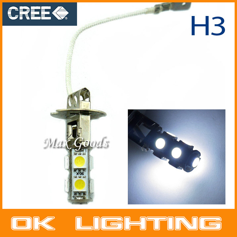 2PCS 9smd H3 LED car Xenon White Auto Fog Head Driving Corner/Stop/Parking Light Lamp For Car car styling(China (Mainland))