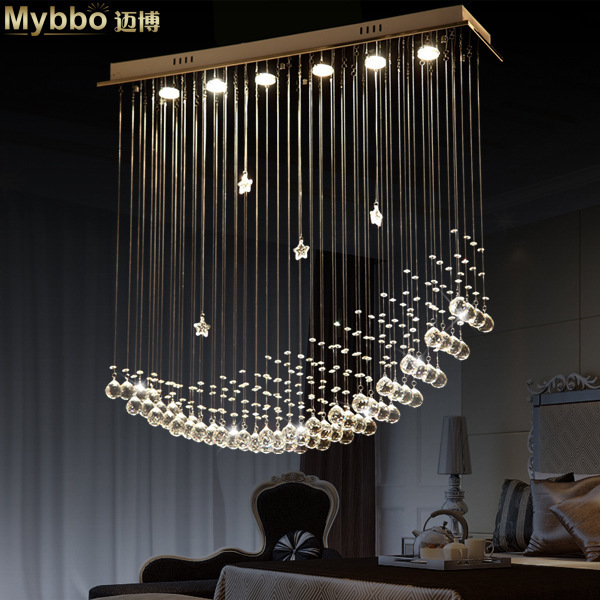 Led Moon Ship Crystal Chandeliers Lights Dining Room Chandeliers