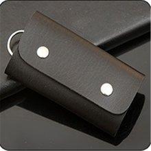 Cartera de cuero de la PU de la manera de la llave del coche de Color sólido llavero de las llaves del ama de llaves organizador para las mujeres hombres Unisex 3149(China)