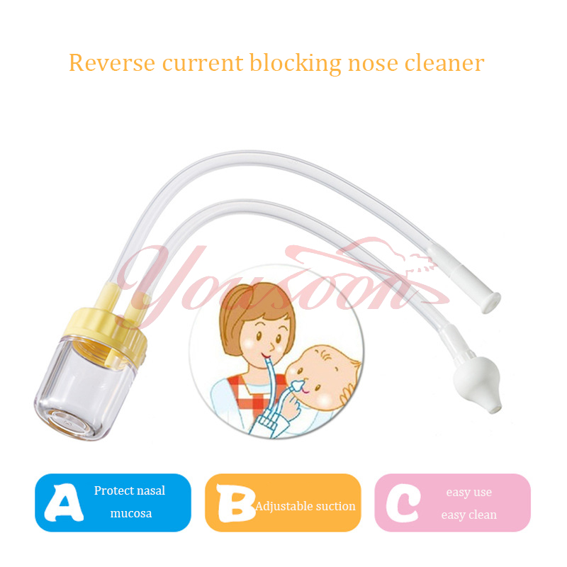 New Born Baby Safety Adjustable suction Nose Cleaner Vacuum Suction boys girls unisex Nasal Aspirator Free Shipping easy clean(China (Mainland))