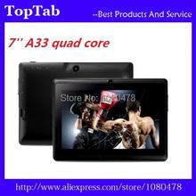 Q88 7 inch A33 tablet pc quad core 512M 8G bluetooth android 4.4.2 dual camera 2200mah(China (Mainland))