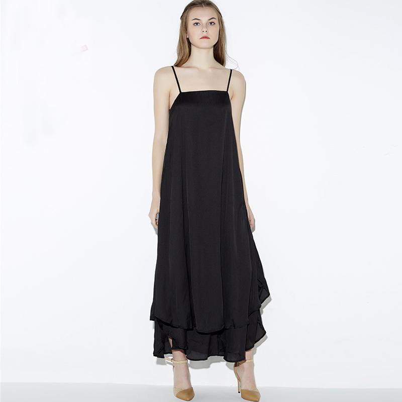 Luxury High Quality Designer Runway Maxi Dress Women Long Casual Double Chiffon Dress Sleeveless Summer 2016 Women Dresses RE36(China (Mainland))