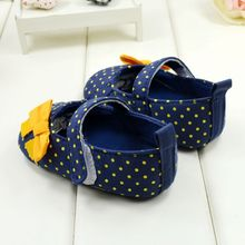 Cute Spring Autumn Baby Girl Shoes Sweet Dot Butterfly Toddlers Baby Girls First Walkers