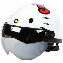 Free shipping!Fashion Halley EVO half capacete,electric bicycle Hello Kitty helmet,Women's Motorcycle Summer helmet,Anti-UV Lens(China (Mainland))