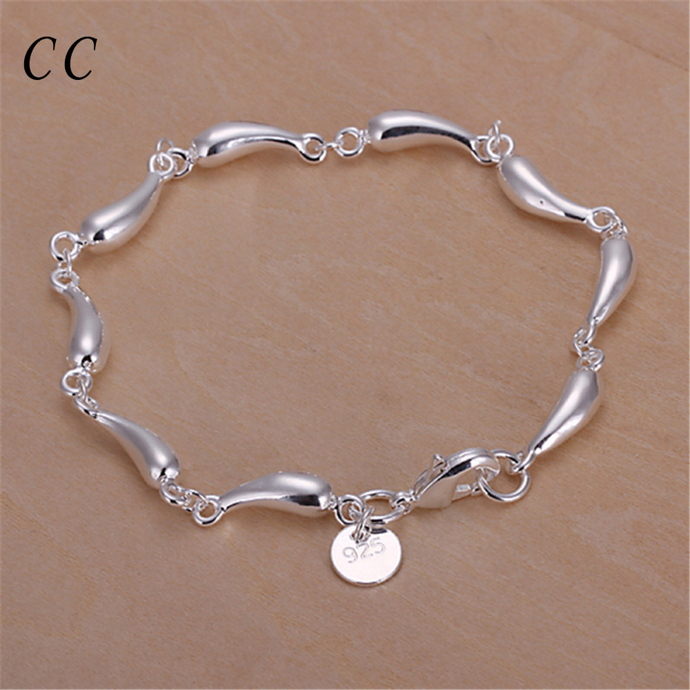 Chic accessories unique design full water drop bracelet for women with sliver plated fashion jewelry femme gift lovely CCNE0682(China (Mainland))