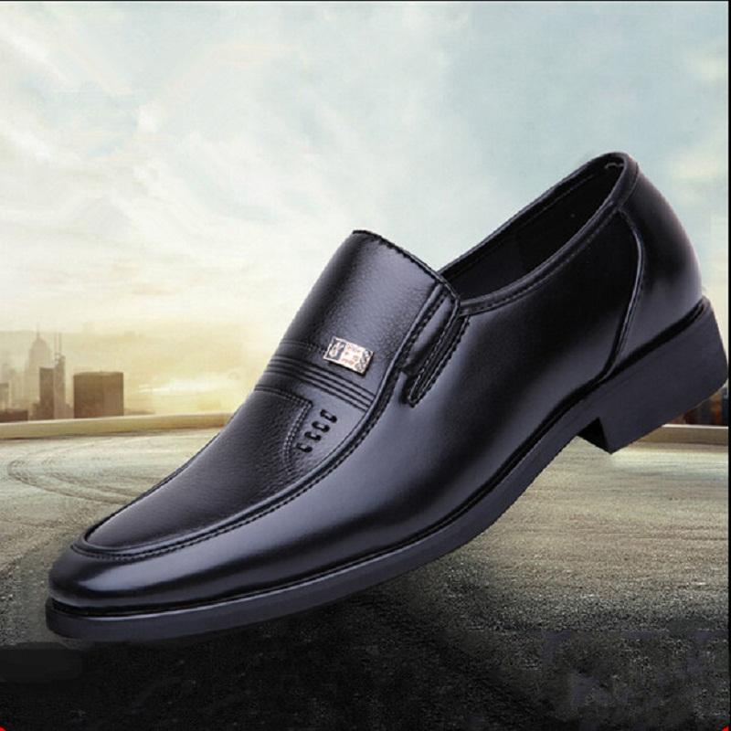 HOT SALE Genuine Leather Office Shoes Non-slip Abrasion Men Business Shoes Patent Leather Oxford x668 <br><br>Aliexpress