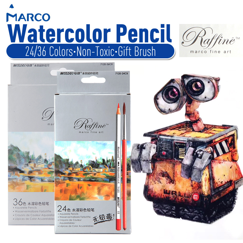 Marco Fine Art 36 Color Drawing Water Colored Pencil Artist Sketch - Bianyo Painting Material Co.,Ltd store