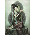 Hand painted Kwan Yin Painting Goddess of Compassion Decor Oil Painting On Canvas Buddha Painting park
