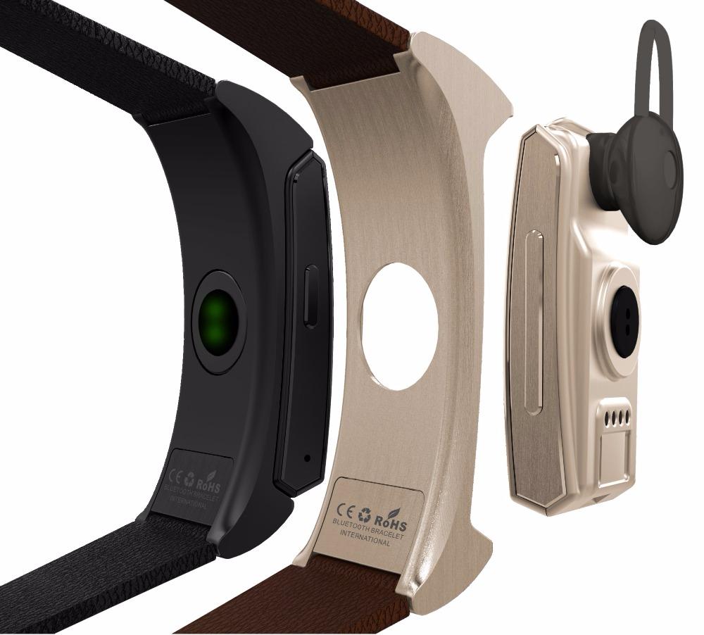 Uwatch U20 Umini inteligentní náramek hodinky + pro sluchátka / headsetu MTK2502 tepové frekvence sledování kondice Bluetooth