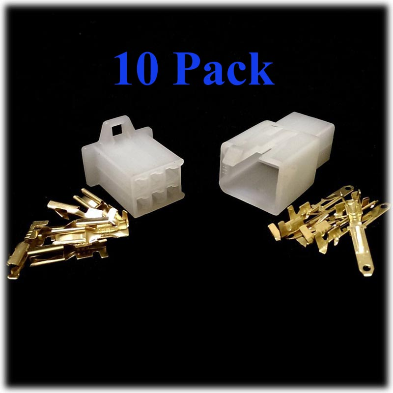 10 Pack 6 Way Motorcycle Connector fits 5 pin CDI unit Scooter Pit Monkey Quad Dirt Bike ATV free shipping(China (Mainland))