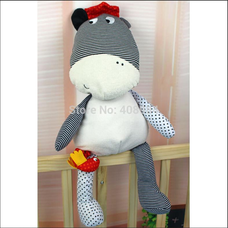 new arrival soft Plush Smooth cattle cow toy Baby Sleep Calm Doll with a musical bird(China (Mainland))