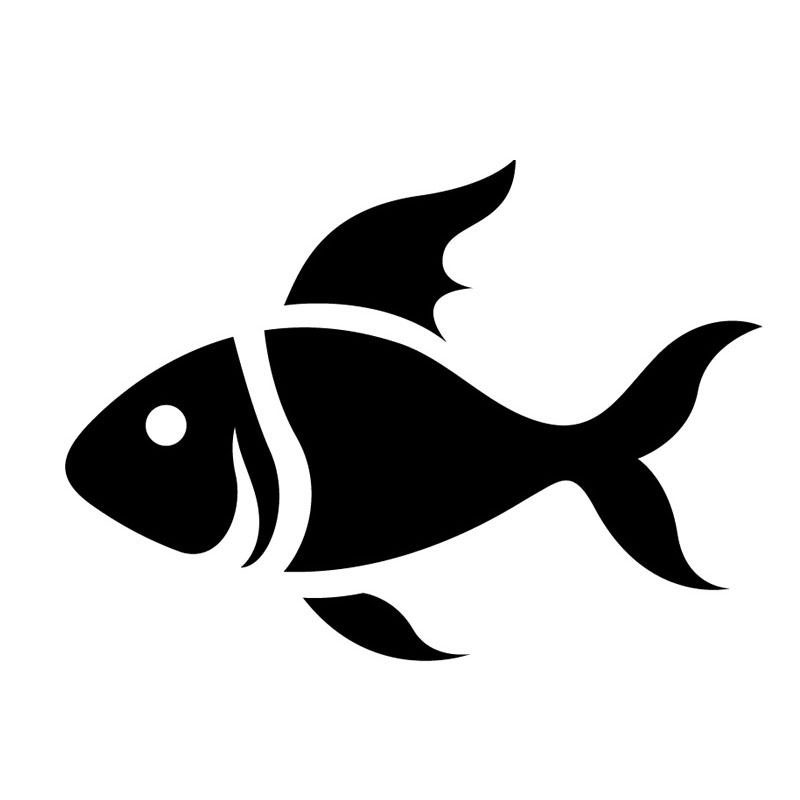 15*10.8CM Car Styling Cartoon Fish Windshield Glass Decorative Stickers Lovely Classic Car Accessories C6-0644(China (Mainland))