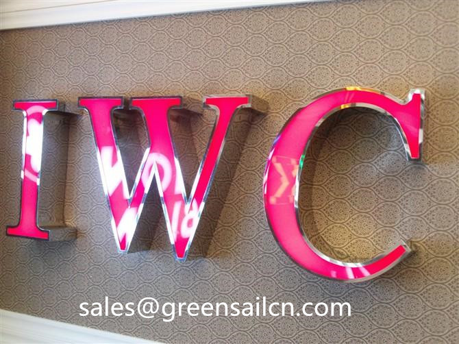 Outdoor display resin letter signs customized advertise supply(China (Mainland))