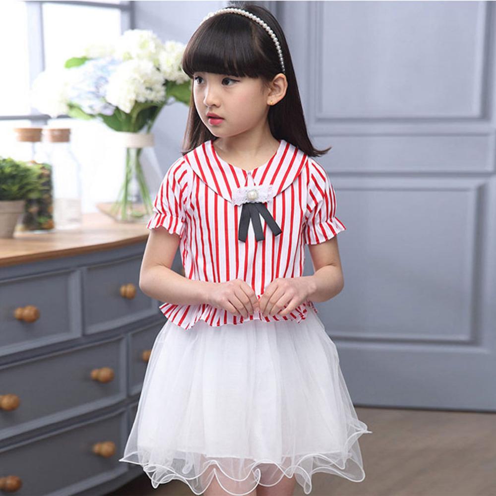 3-12Y Girls Summer Dress 2016 Designer Baby Clothes Stripe Princess Costume Children Clothing Girls C429(China (Mainland))