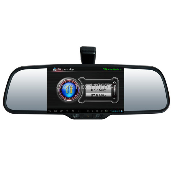 "Full HD 1080P 5"" Touch Android Car DVR GPS Navigation Wifi FM Parking Rearview Mirror Video recorder Dual camera + Bluetooth(China (Mainland))"