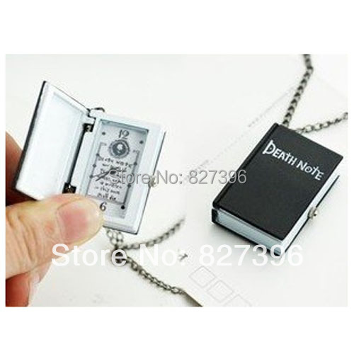 HOT Anime Death Note L Necklace Pocket Watch Cosplay Costume Accessory Toy Gift Cool(China (Mainland))