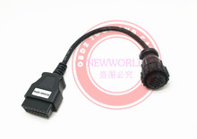 SCANIA 16Pin Cable For Multidiag Pro+  Cable For TCSCDP TCS CDP Pro  Truck Diagnostic Tool Connector Free Shipping(China (Mainland))