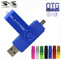 Suntrsi Smart Phone USB Flash Drive Metal Pen Drive 64gb pendrive 8gb OTG external storage micro