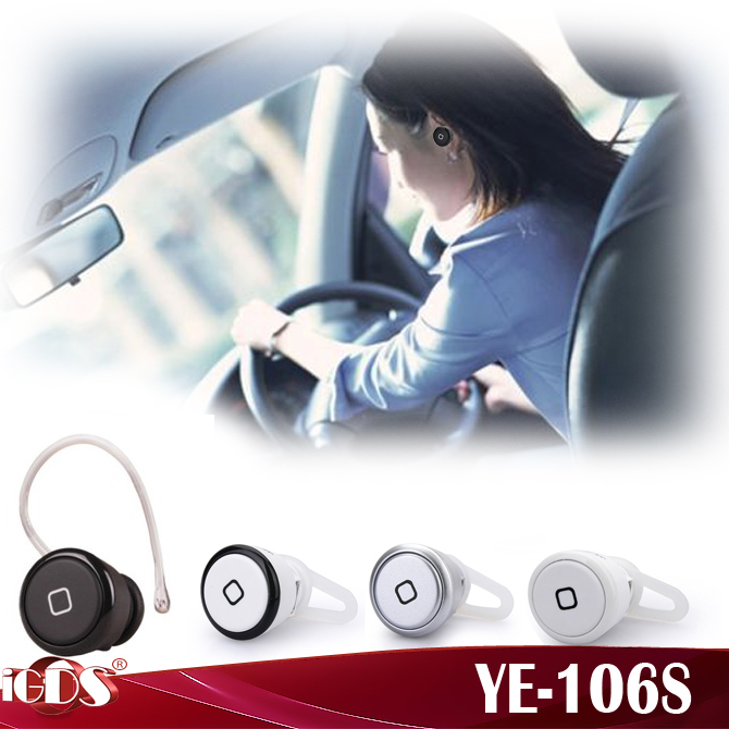 Bluetooth YE-106S headset wireless car earphone with speaker music headphone for All Phone