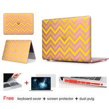 New Fashion For Girls Matte Frosted Texture Wavy Case Cover Macbook Air 13 12 11 Pro 13 15 inch With Retina Laptop Accessories