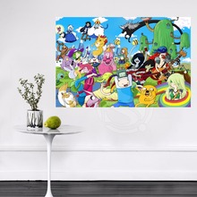 Buy #77 Hot Sale Custom Adventure Time Wall Silk Poster Canvas Painting cloth print DIY Fabric Poster 704#77 for $5.17 in AliExpress store