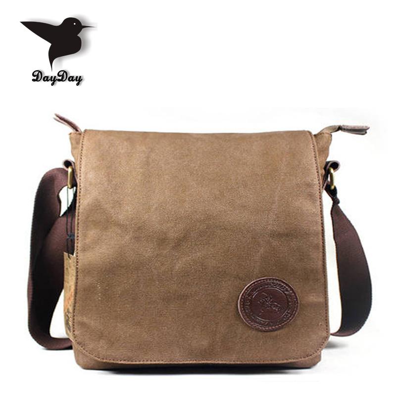 Super wear resistant Vintage Men Canvas Messenger Bags big cover Preppy Style high-capacity Man school bag coffee colour