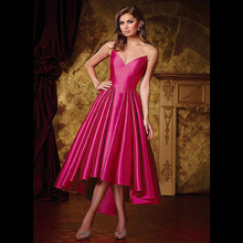 High Low Taffeta Prom Dresses Illusion Tulle Neckline Ball Gown Party Dresses(China (Mainland))