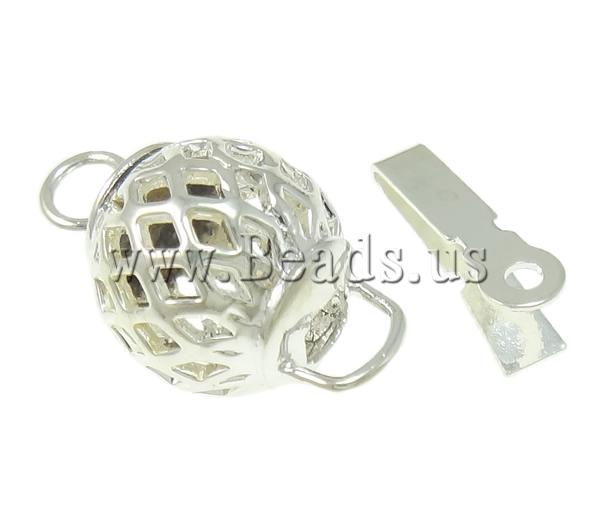 Free shipping!!!Brass Box Clasp,Wholesale Jewelry, Lantern, silver color plated, single-strand & hollow, nickel(China (Mainland))