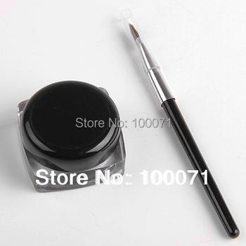 New 2014 Black Waterproof Eye Liner Eyeliner Gel Makeup Cosmetic + Brush Makeup Set#10709
