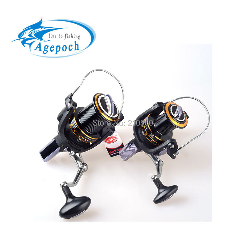 Agepoch 13+1 BB Spinning Spin Drag Long Shot Big Game Worm Shaft Fishing Reel Feeder Carp Cast Gear Sea Spool Peche Ice Wheel(China (Mainland))