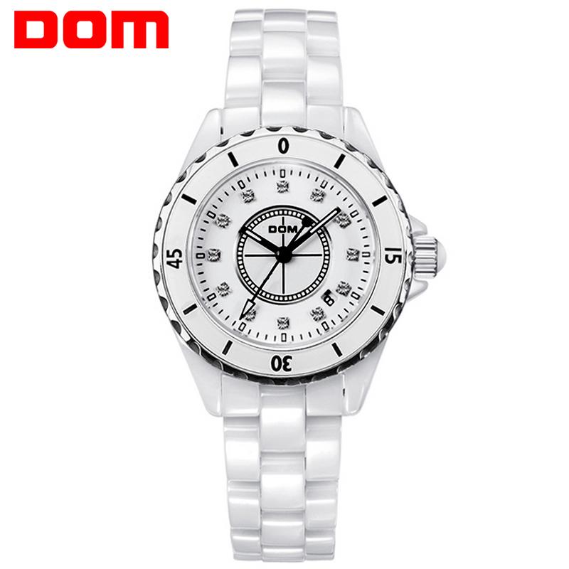 DOM women luxury brand waterproof style quartz ceramic nurse watch(China (Mainland))